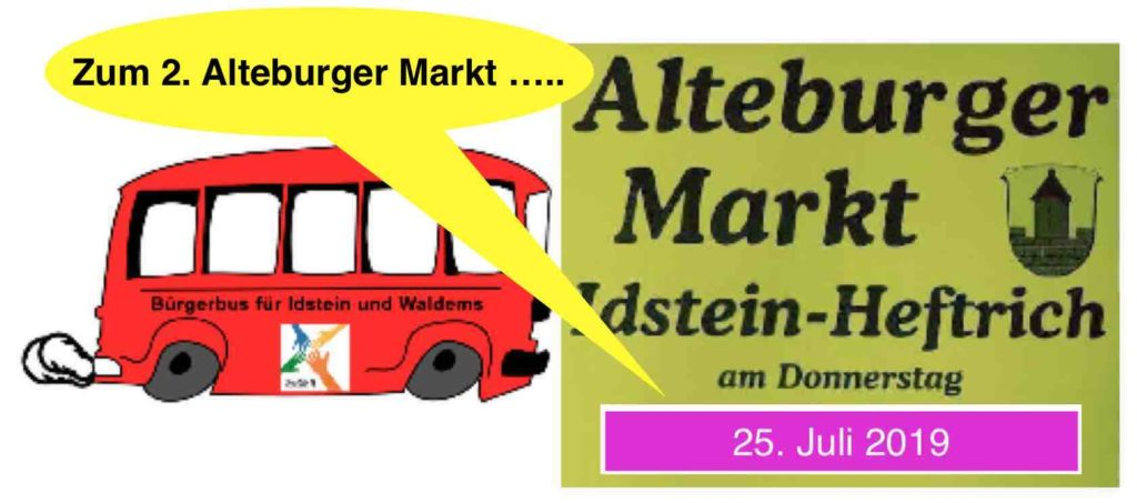 Mit dem Quartier 4-Bürgerbus zum Juli Alteburger Markt 2019